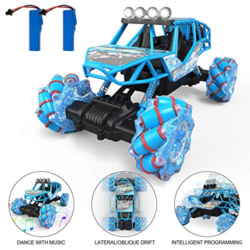 Bfull 4WD RC Car, 1/16 Drift Master Music Buggy 2.4 GHz Remote Control High Speed Racing Vehicle All Terrain Monster Truck for On & Off Road Games, 2 Rechargeable Batteries